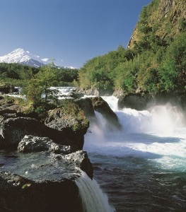 Petrohue Falls, Lake District, Chile